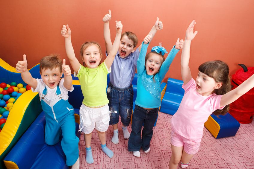 9589362-Group-of-shouting-kids-with-hands-up-Stock-Photo-kids-playing-children
